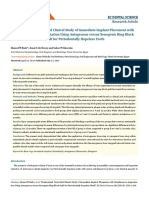 Randomized Controlled Clinical Study of Immediate Implant Placement With Simultaneous Augmentation Using Autogenous Versus Xenogenic Ring Block Graft for Periodontally Hopeless Teeth