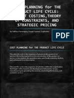 Cost Planning for the Product Life Cycle