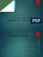 MECANICA de FLUIDOS Unidad VIII Clases de La Semana 9 y 10 Hidrostática y Hemodinamia