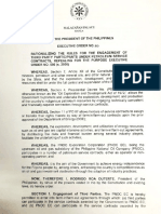 President Duterte's Executive Order No 80