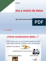Sesion 3 Instrumento y Matriz de Datos
