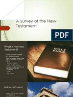 A Survey of the New Testament - PowerPoint