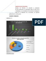 Análisis Estadístico de Los Datos