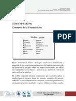 Modelo SPEAKING y Elementos de La Comunicación.