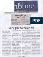 Daily Tribune, May 30, 2019, House pick not Sara'call.pdf