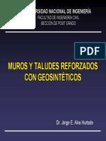 Muros y Taludes Con Geosintéticos
