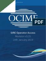 SIRE Operator User Guide v3.15
