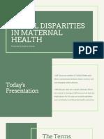 racial disparities in maternal health