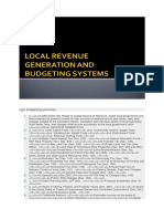 Lgu Budgeting Process