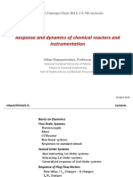 Lecture 4 Response and Dynamics of Chemical Reactors and Instrumentation