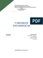 Variables Aleatoria Discreta
