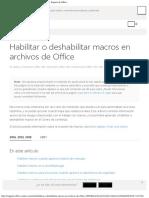 Habilitar o Deshabilitar Macros en Archivos de Office - Soporte de Office