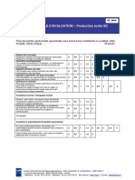 DELF B2 Grille d'Evaluation PE