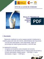 Proceso de Desnatado y Homogenizacion de La Leche