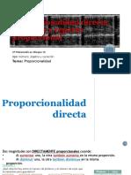 Proporcionalidad Directa e Inversa y Reparto Proporcional