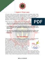 Keppler's Laws of Motion