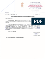 9116543 Letter Reg Observance of Anti Terrorism Day on 21st May 2019
