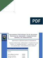 Reglamentos, Codigos y Normativas para la Fabricacion y Control de Calidad del Concreto en Obra.pdf