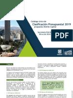 Catalogo Clasificacion Presupuestal 2019 0