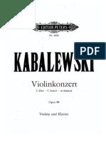 Kabalewski. Violin concerto