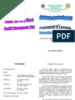 Dumaguete City National High School Cluster CLosing Program