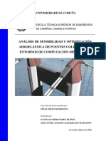 Análisis de Sensibilidad y Optimización Aeroelástica de Puentes Colgantes en Entornos de Computación Distribuida