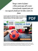 Azione Contro La Fame Challenge Contro La Fame Evento Benefico 31 Maggo Milano