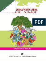 Grama Sabhaward Sabha of Special Categories - Operational Manual