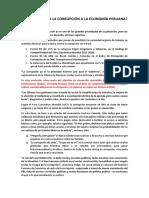 Cuánto Afecta La Corrupción a La Economía Peruana