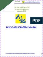 A2Z January 2019 Current Affairs PDF
