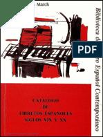 Catálogo de Libretos Españoles de Los Siglos Xix y Xx