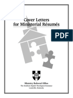 Cover Letters for Ministerial Resumes