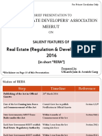 Salient Features of Real Estate (Regulation & Development) Act 2016
