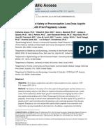 Low Dose Aspirin and Preterm Birth