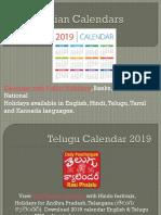 Indian Calendars