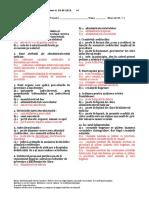 Test de Examen Dreptul Insolventei 20.05.2015 v1 Barem Grila