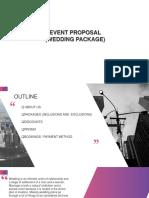 Event Proposal - Wedding - Final