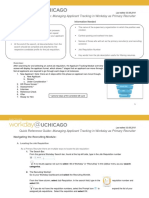 Quick Reference Guide - Managing Applicant Tracking in Workday as Primary Recruiter