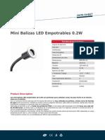 Mini Balizas LED Empotrables 0.2W