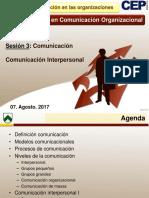 Comunicación Interpersonal I