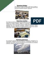 Desechos Solidos, liquidos y gaseosos