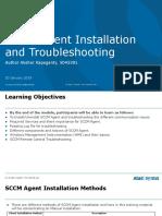 SCCM Agent Installation Uninstallation Traning