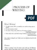 Process of Writting