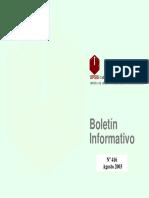 Boletin Informativo Agosto 2003