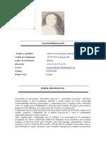 Hoja de Vida Actualizada (Diana Rodriguez)
