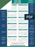2019-20 school district schedule