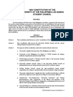 UPLB Student Council Constitution (Encoded in 2012)