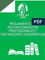Reglamento de Reconocimientos y Distinciones