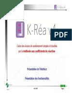 Calcul Des Écrans de Soutènement Simples Et Doubles Par La Méthode Aux Coefficients de Réaction. Présentation de l Interface
