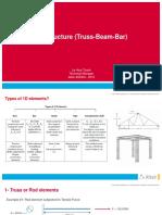 1D Structure Truss Beam Bar